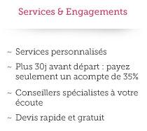 Services et Engagements Andha Luz Voyages